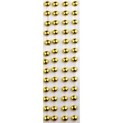 Pérola Adesiva Metálica 12mm PAM12 Dourada