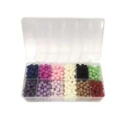 Pérola Craquelada 10mm - Kit com 11 cores diferentes - caixa 250g