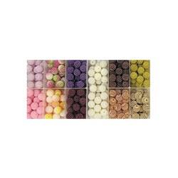 Pérola Craquelada 12mm - Kit com 11 cores diferentes - caixa 230g