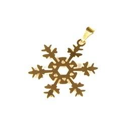 Pingente Banhado PBO-014 Floco de Neve