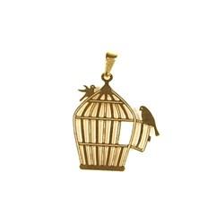 Pingente Banhado PBO-015 Gaiola Pássaros