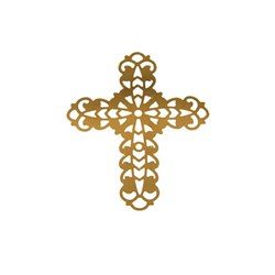 Pingente Banhado PBO-022 Cruz Ouro