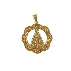 Pingente Banhado PBO-027 Medallha Nossa Senhora