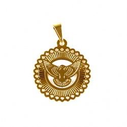 Pingente Banhado PBO-030 Medalha Espírito Santo