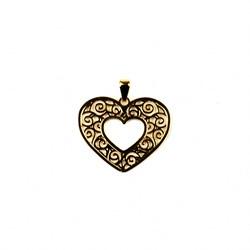Pingente Banhado PBO-035 Coração Mãe