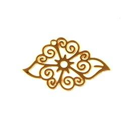 Pingente Florzinha Aplique  - Dourado