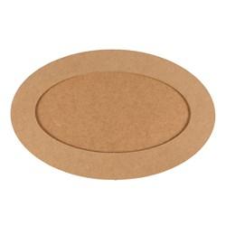Placa Oval com Moldura  31X40 CM MDF-140
