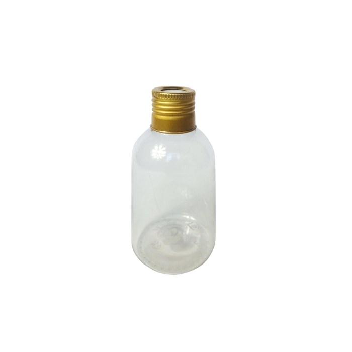Pote Plástico para Aromatizador 100mL 006374 Tampa Metal Dourada