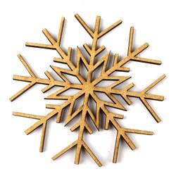 Recorte de MDF - Floco de Neve Bolinha - RMFNB - 2UN