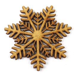 Recorte de MDF - Floco de Neve Espinha de Peixe - P- RMFEP-P - 2UN