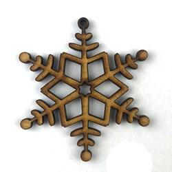 Recorte de MDF - Floco de Neve Estrela 8 pontas - RMFNE-G - 2UN