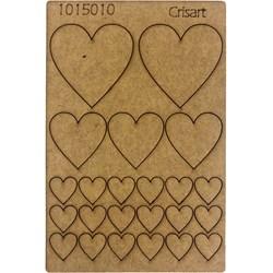 Recorte Placa Mdf 10x15 1015010 corações