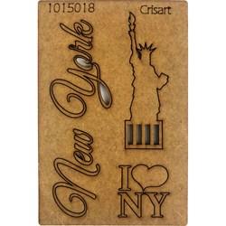 Recorte Placa Mdf 10x15 1015018 New York Estatua