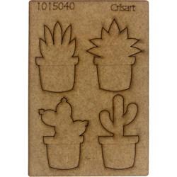 Recorte Placa Mdf 10x15 1015040 Suculentas No Vaso