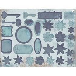 Recortes para Scrap Decor DC13 Vintage Azul