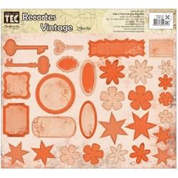 Recortes para Scrapdecor 13265 (DC06) Vintage Laranja