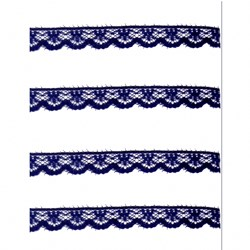 Renda de Nylon 10mm C55 Azul Marinho - Embalagem com 1 metro