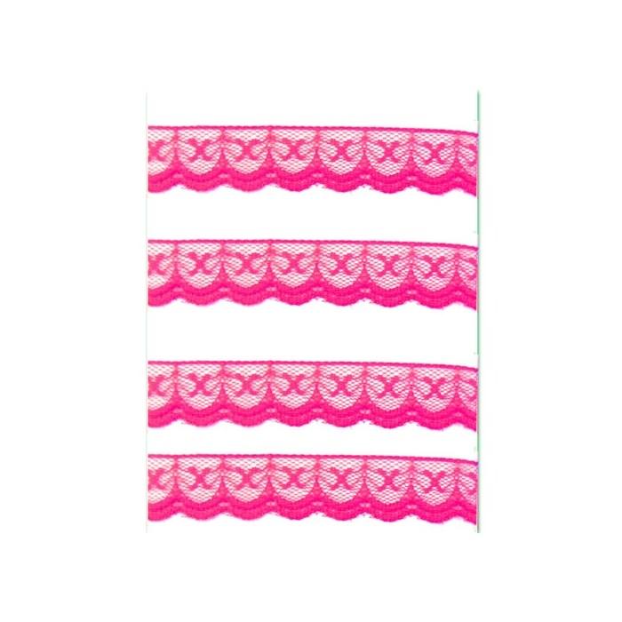 Renda de Nylon 20mm C30 Pink - Embalagem com 1 metro