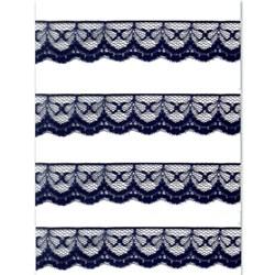 Renda de Nylon 20mm C55 Azul Marinho - Embalagem com 1 metro