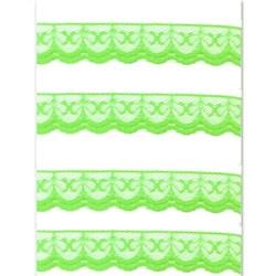 Renda de Nylon 20mm C59 Verde Limão - Embalagem com 1 metro