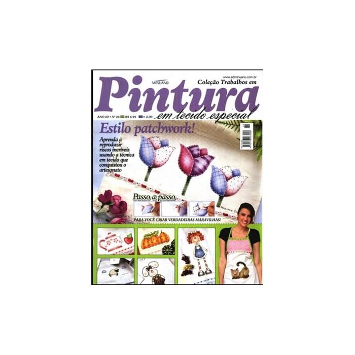 Revista Coleção Trabalhos em Pintura em Tecidos Especial (AnoIII-N°26)