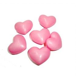 Sabonete Decorativo Mini Coração Rosa - Embalagem com 1 unidade