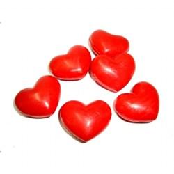 Sabonete Decorativo Mini Coração Vermelho - Embalagem com 1 unidade