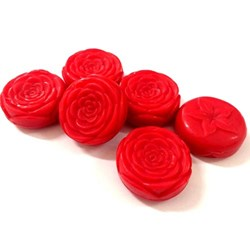 Sabonete Decorativo Mini Rosinha Vermelho - Embalagem com 1 unidade