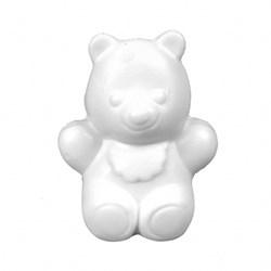 Sabonete Decorativo Mini Urso Baby Branco - com 1 unidade