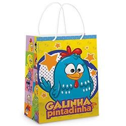 Sacola para presente Galinha Pintadinha - 13x14x6cm - com 10 unidades