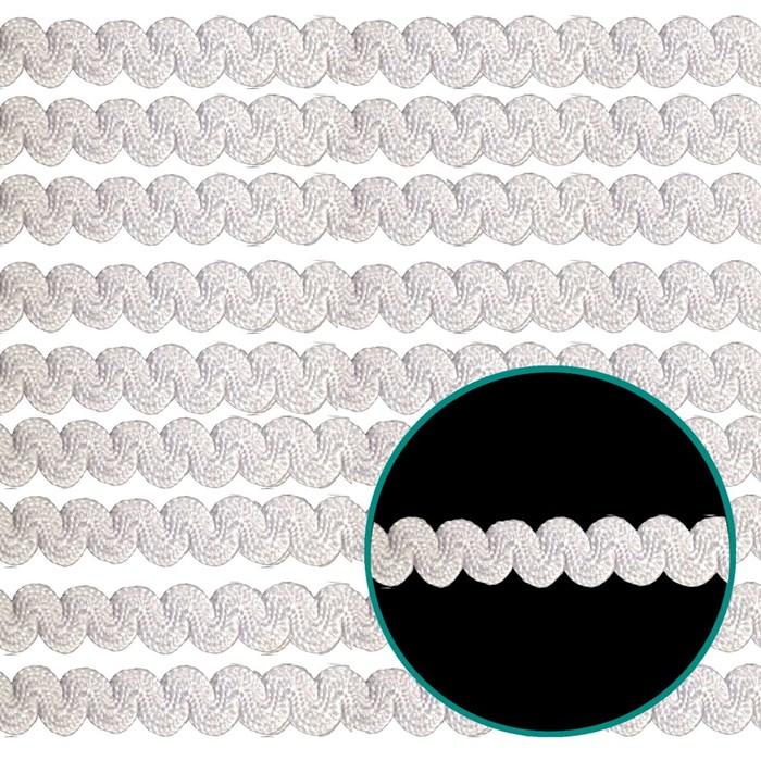 Sianinha Elástica 4mm 222/06 - Cor 01 Branco - com 10 metros
