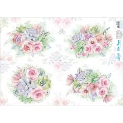 Slim Paper para Decoupage SPL-005 Flores e Suculentas