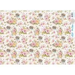 Slim Paper para Decoupage SPL-012 Flores e Ninho de Passarinho