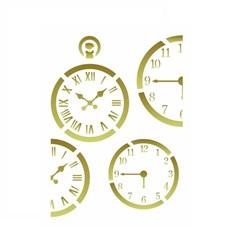 Stencil Arte Fácil ST-150 Relógios 13x17cm