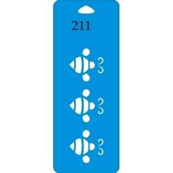 Stencil Duna 17x6,5cm DN-211 Abelha