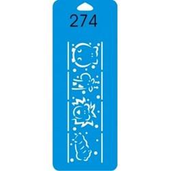 Stencil Duna 17x6,5cm DN-274 Animais
