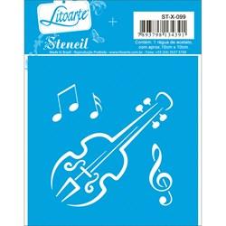 Stencil Litoarte 10x10cm ST-X-099 Violino