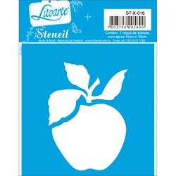 Stencil Litoarte 10x10cm STX-016 Maçã
