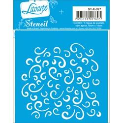 Stencil Litoarte 10x10cm STX-027 Arabesco