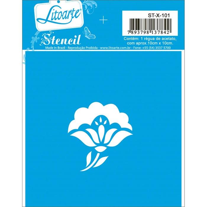 Stencil Litoarte 10x10cm STX-101