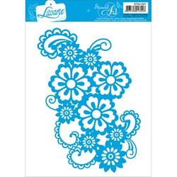 Stencil Litoarte 14,3x20,1cm STA2-027 Arabesco Floral