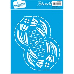 Stencil Litoarte 17x21cm STM-039 Flores