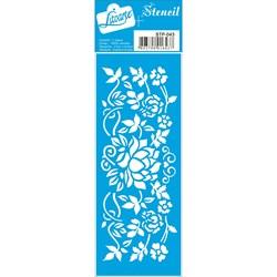 Stencil Litoarte 17x6,5cm STP-043 Flores