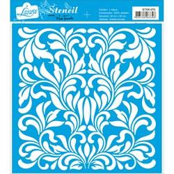Stencil Litoarte 20x20cm STXX-070 Adamascado