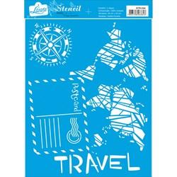 Stencil Litoarte 20x25cm STR-044 Carta Postal