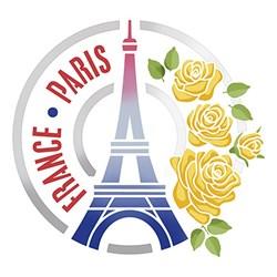 Stencil Litoarte 25x25cm STXXV-026 Paris France
