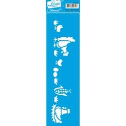 Stencil Litoarte 28,5x8,5cm STE-069 Galinhas