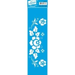 Stencil Litoarte 28,5x8,5cm STE-220 Flores