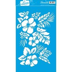 Stencil Litoarte 34x21cm ST-005 Flores