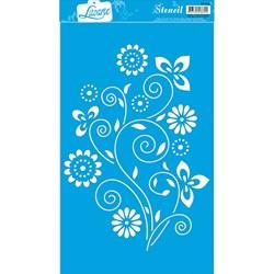 Stencil Litoarte 34x21cm ST-018 Flores